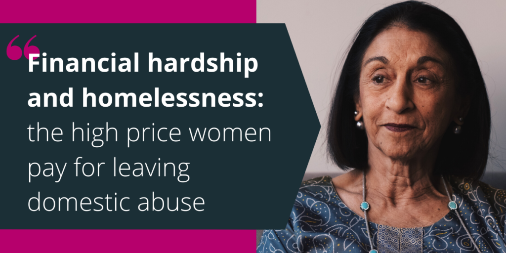 Financial hardship and homelessness: the high price women pay for leaving domestic abuse